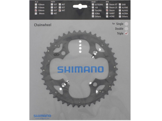 Shimano Deore FC-M590 Plateau pour plateau pare-chaîne 9 vitesses, grey